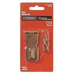 Everbilt 2-1/2 Inch  Brass Hasp