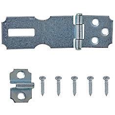 2-1/2-Inch Zinc Plated Hasp - 1pk