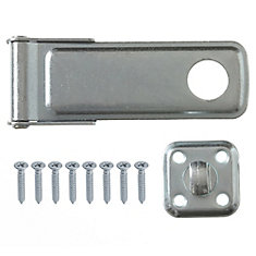 6-Inch Zinc Plated Hasp - 1pk