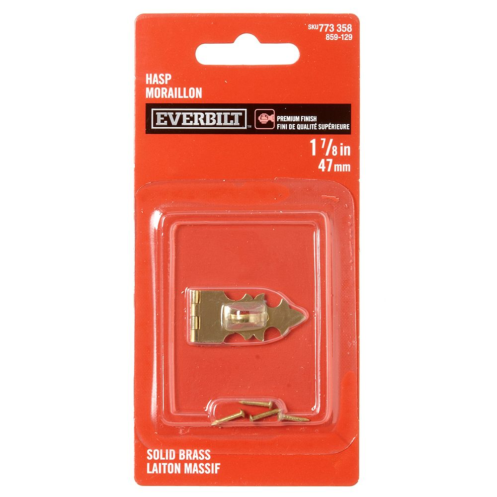 1-7/8 Inch Solid Brass Hasp 859-129 Canada Discount