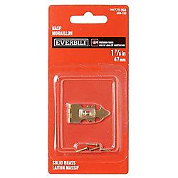 Everbilt 1-7/8 Inch  Solid Brass Hasp