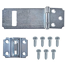 3-1/2-Inch Zinc Plated Hasp with Adjustable Stop - 1pk