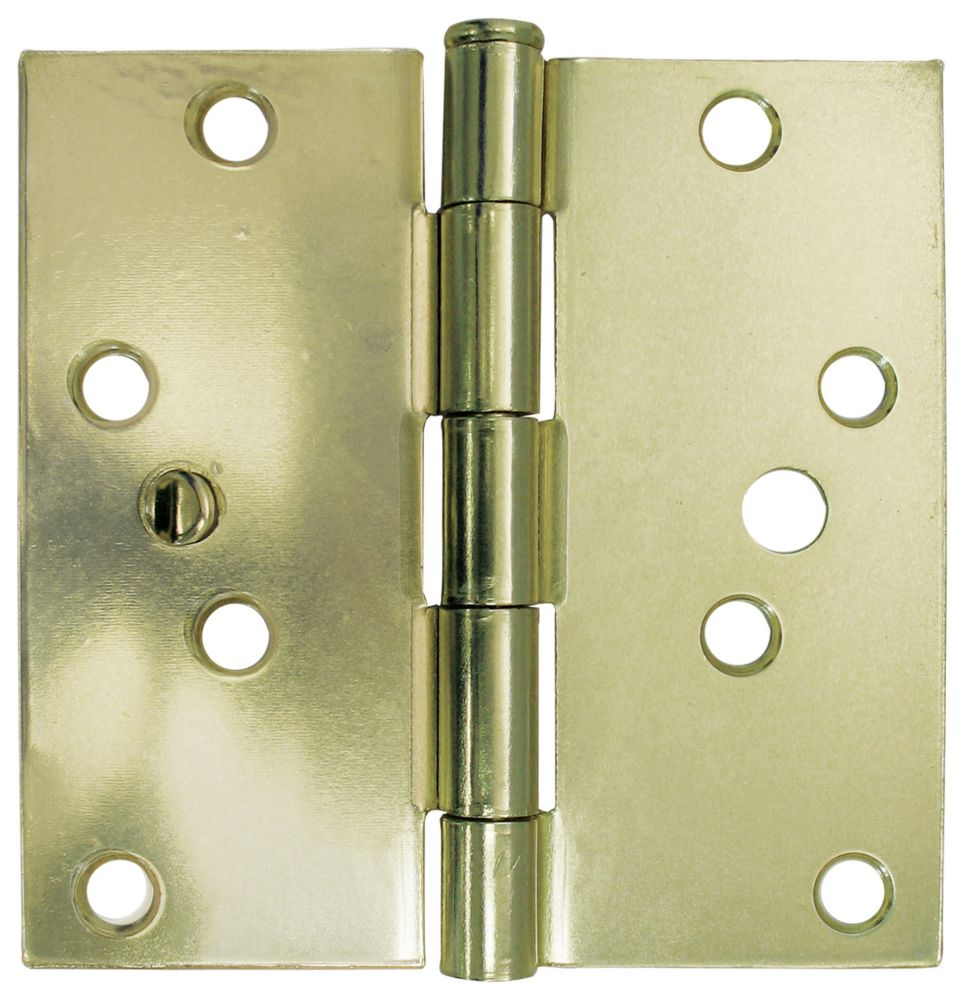 4 Inch  Satin Brass Security Door Hinge