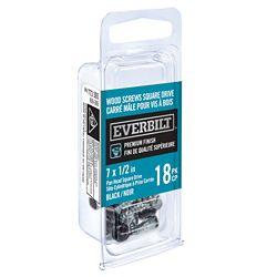 Everbilt #7x1/2 Inch Black Wood Screw Sq Dr (18-Pack)