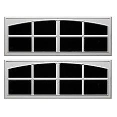 17-1/2 Inch X45 Inch  White Decorative Faux Window 2pk