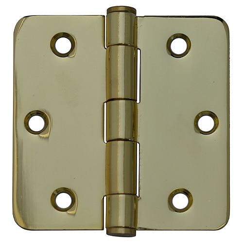Everbilt 3-inch Solid Brass 1/4rd Door Hinge