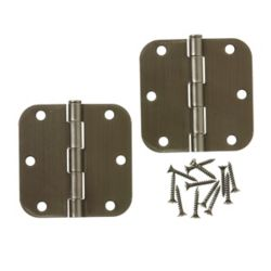 Everbilt 3 1/2-inch Antique Pewter 5/8rd Door Hinge (2-Pack)