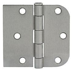 3-inch x 3 3/16-inch Satin Nickel Door Hinge