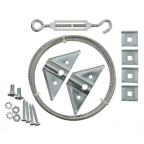 Everbilt Galvanized Superior Rust Resistant Anti-Sag Gate Kit - 1pk