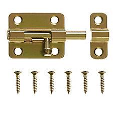 2-1/2-Inch Brass Barrel Bolt - 1pk