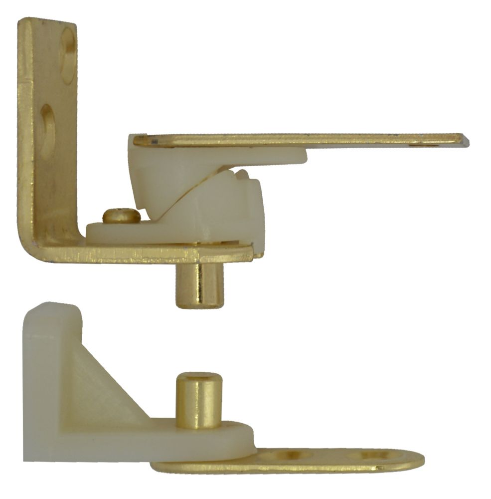 Satin Brass Café Door Pivot