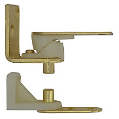 Satin Brass Café Door Pivot