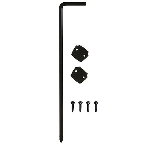 Everbilt 18-Inch Cane Bolt in Black - 1pk