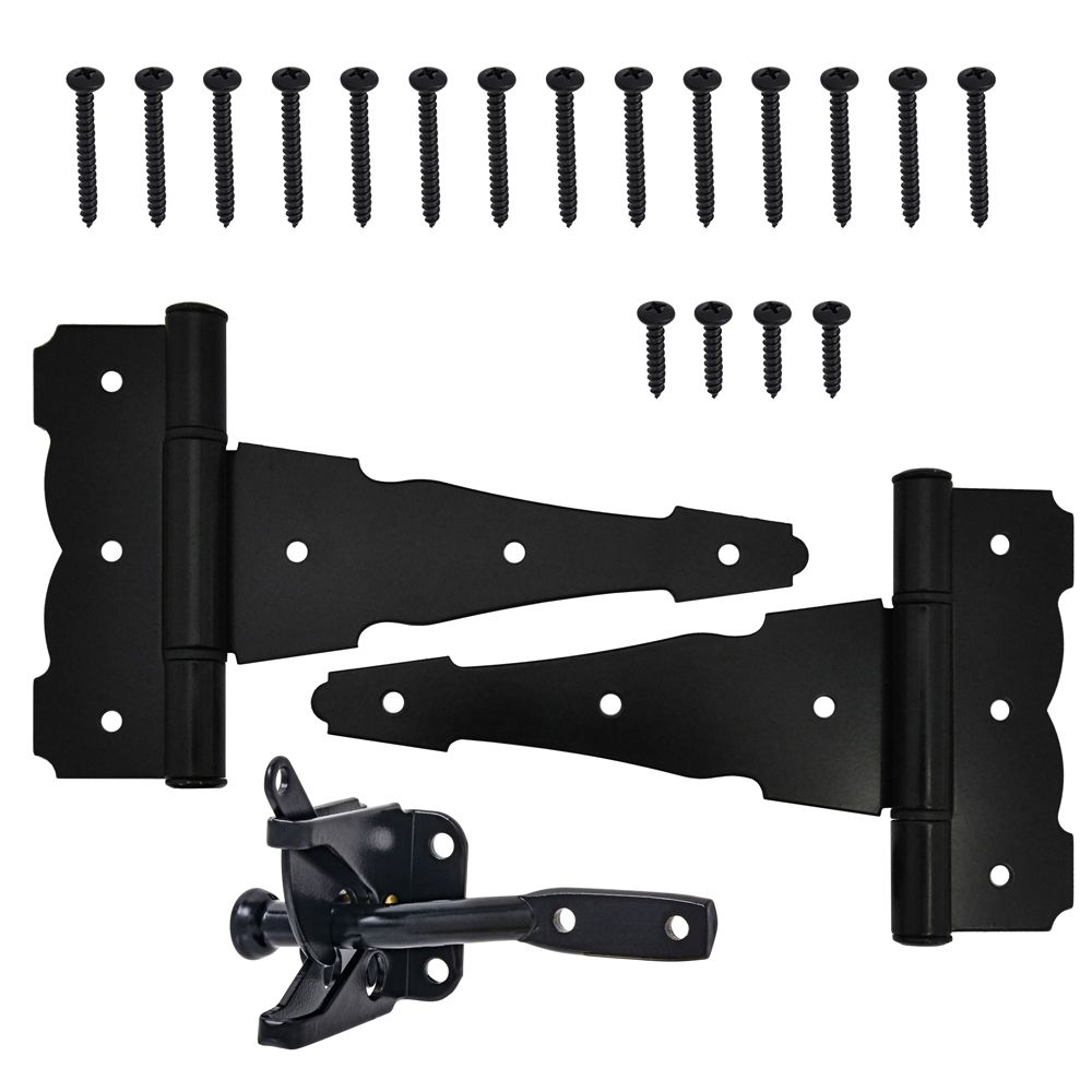 Everbilt 4-piece Gate Kit in Black -1pk
