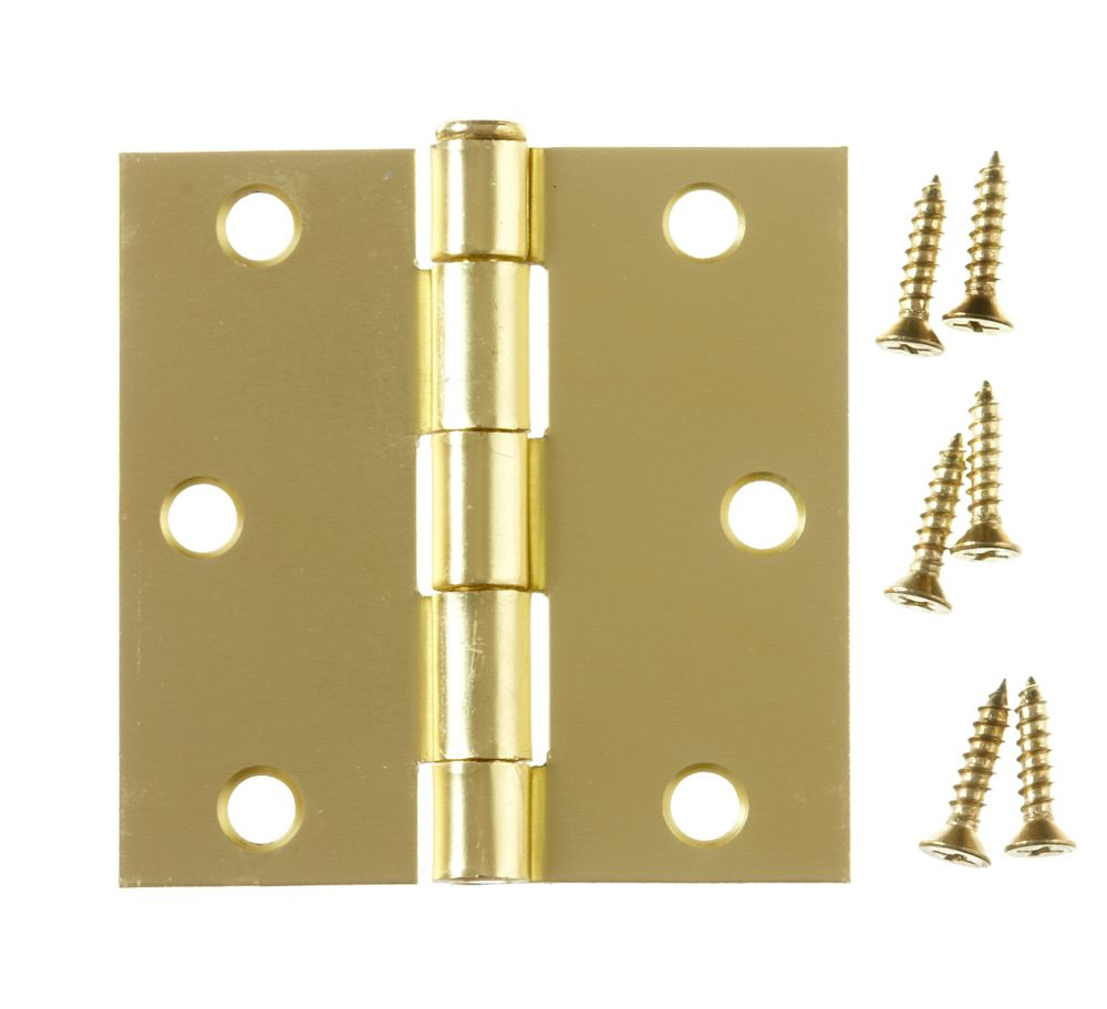 3 Inch Satin Brass Commercial Hinge 859-451 Canada Discount