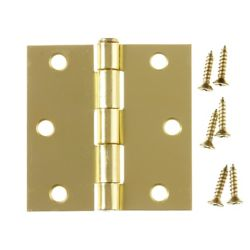 Everbilt 3 Inch  Satin Brass Commercial Hinge