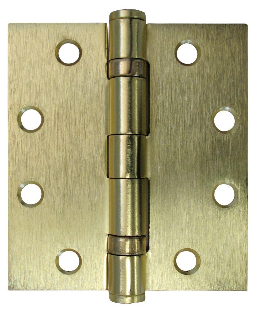 4-1/2 Inch X4 Inch  Satin Brass Comm Hinge