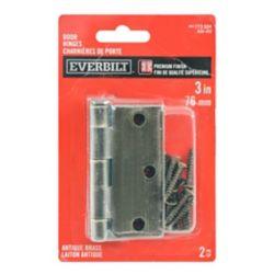 Everbilt 3-inch Antique Brass Door Hinge (2-Pack)
