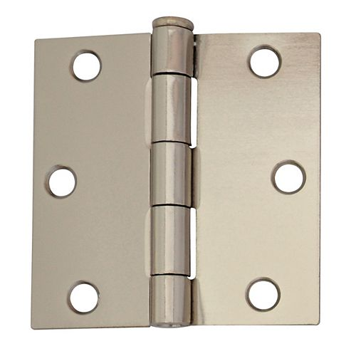 "Everbilt Charnières de porte 3"" nickel brillant 2MCX"