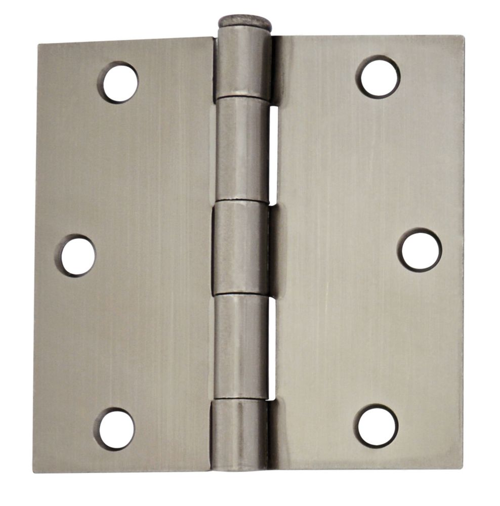 3 1/2-inch Pewter Door Hinge (2 Pack)