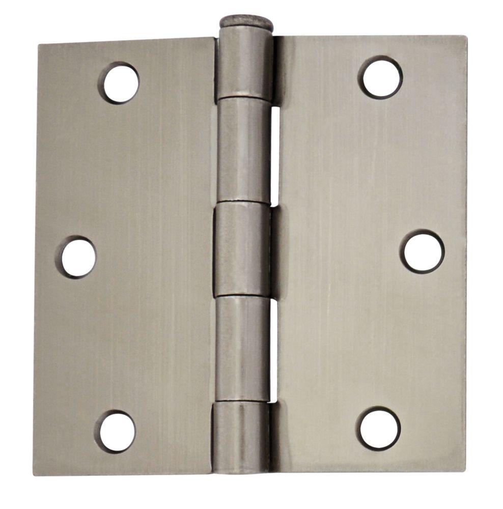3 1/2-inch Pewter Door Hinge (2 Pack)
