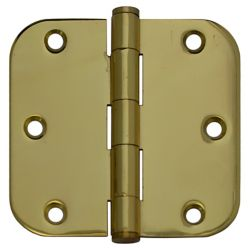 Everbilt 3 1/2-inch Solid Brass 5/8rd Door Hinge
