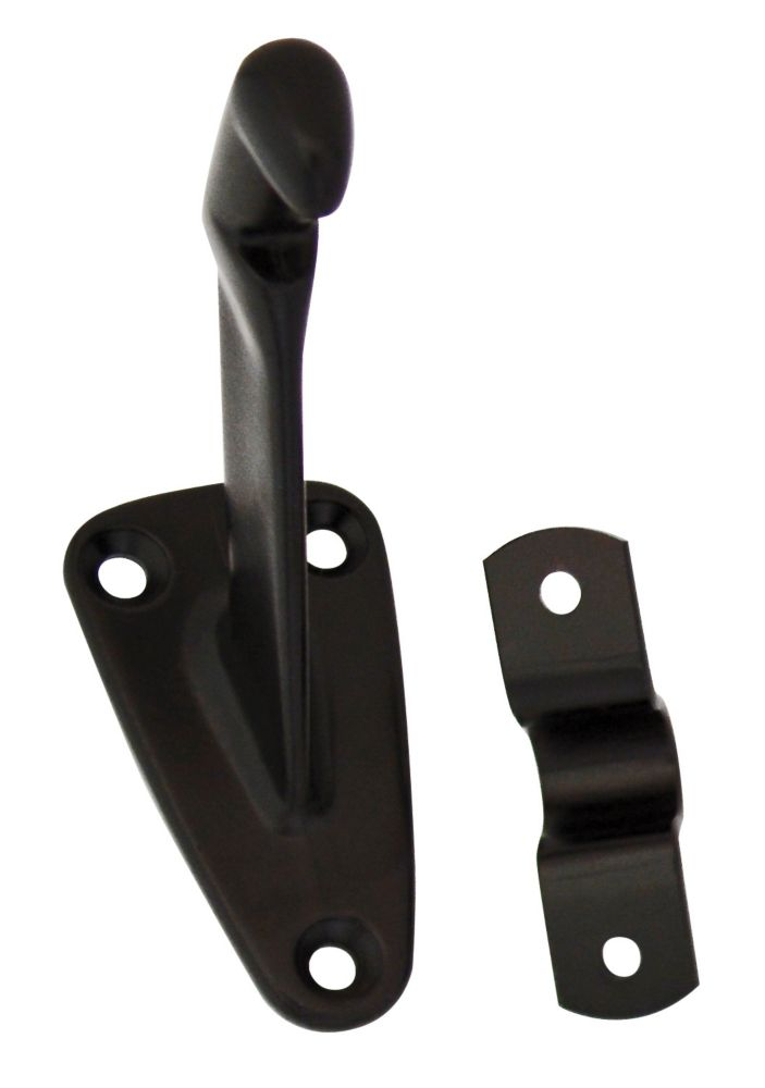 Everbilt Iron Black Handrail Bracket
