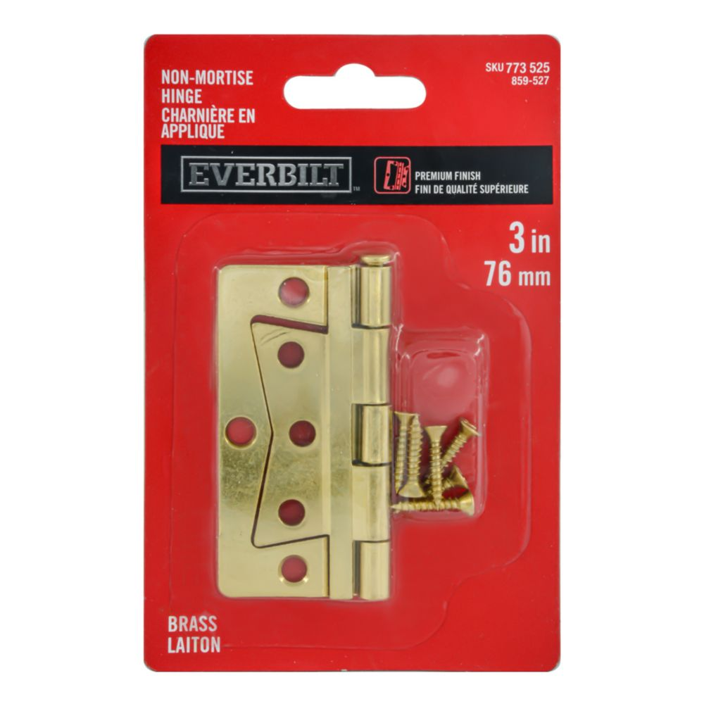 3 Inch  Brass Non Mortise Hinge