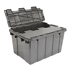 Commercial Flip-Top Storage Tote in Grey, 45 L