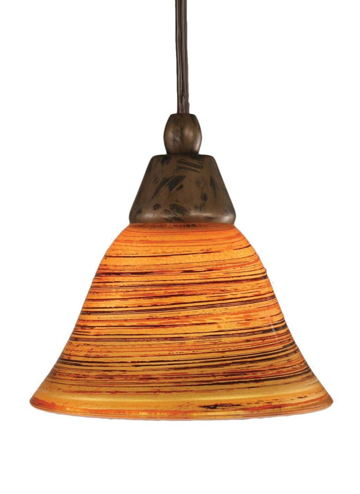 Concord 1-Light Ceiling Bronze Pendant with a Firré Saturn Glass