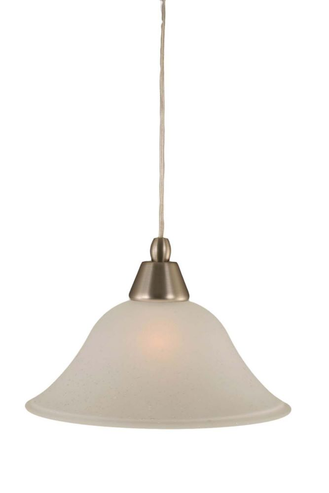 Concord 1-Light Ceiling Brushed Nickel Pendant with a Dew Drop Glass