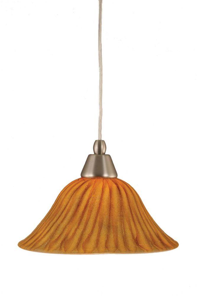Concord plafond à 1 Lumière brossé Pendeloque incandescence nickel à Tiger