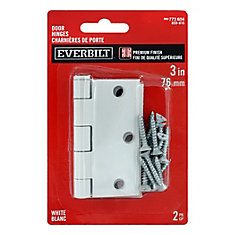 everbilt 3 inch white door hinge 2 pack the home depot canada