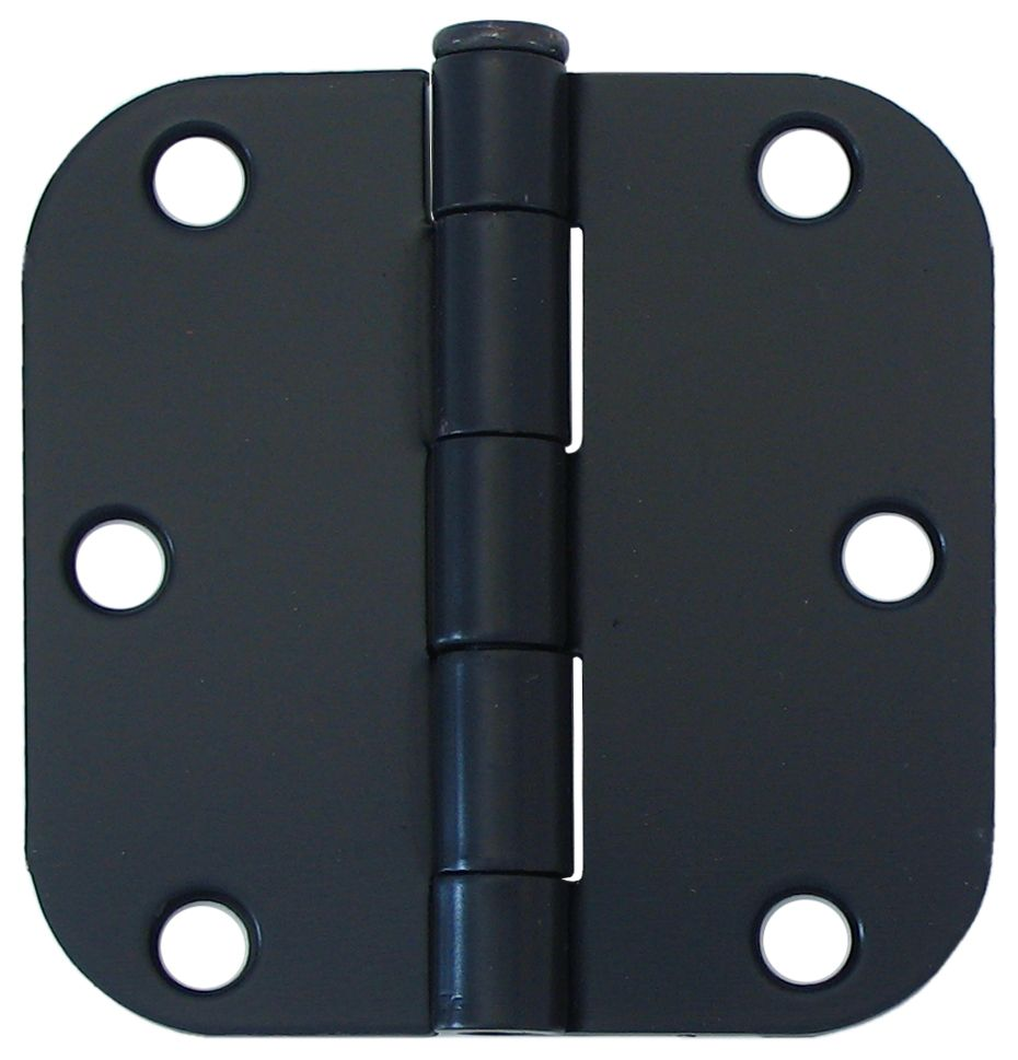 3-inch Iron Black 5/8rd Door Hinge (2 Pack)