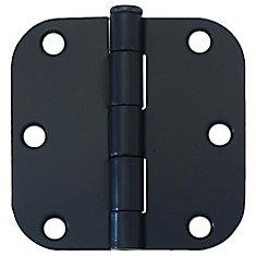 3-inch Iron Black 5/8rd Door Hinge (2 Pack)
