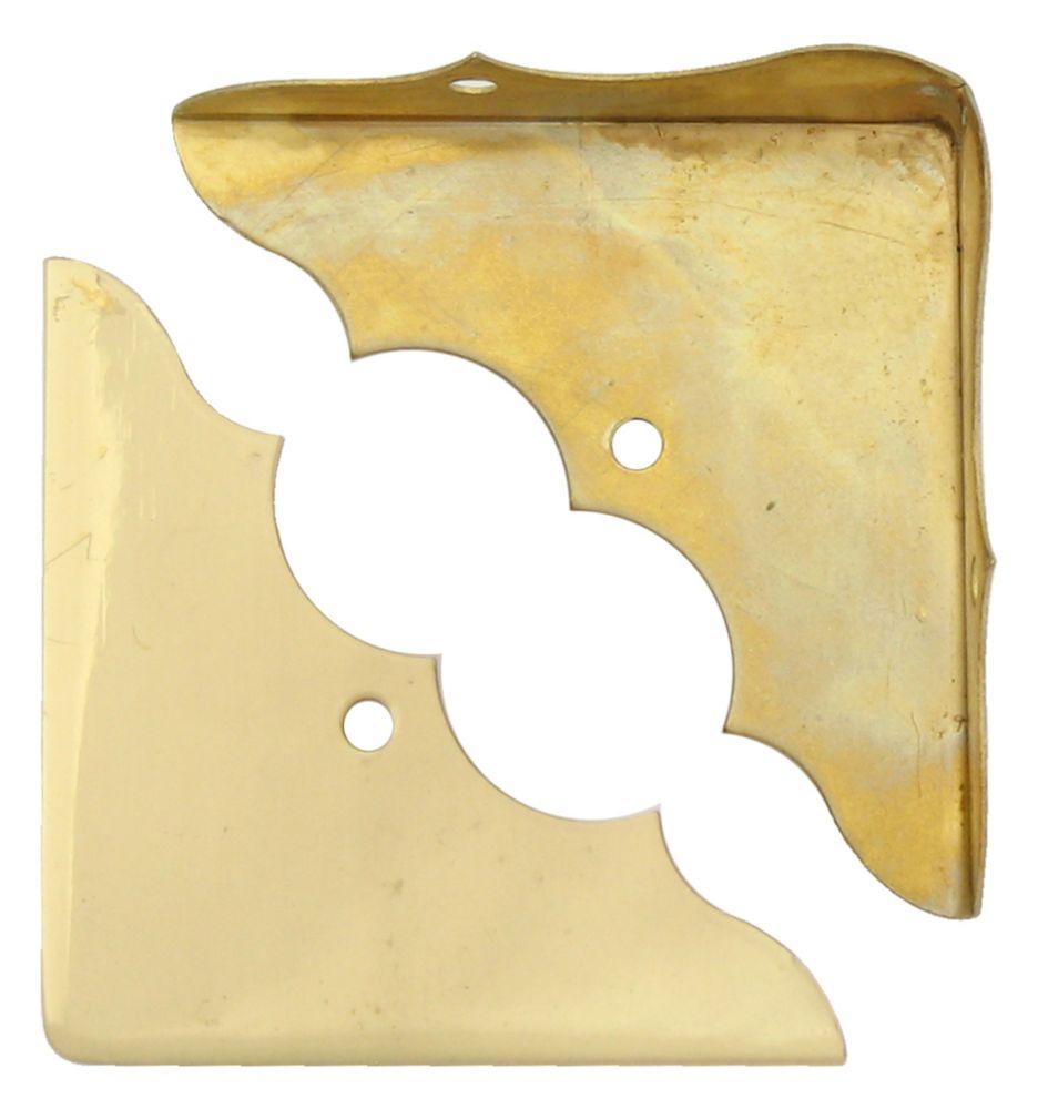 1-3/4 Inch Solid Brass Corner Brace 4pk 859-701 Canada Discount