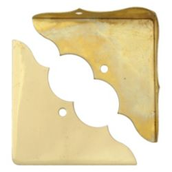 Everbilt 1-3/4 Inch Solid Brass Corner Brace (4-Pack)