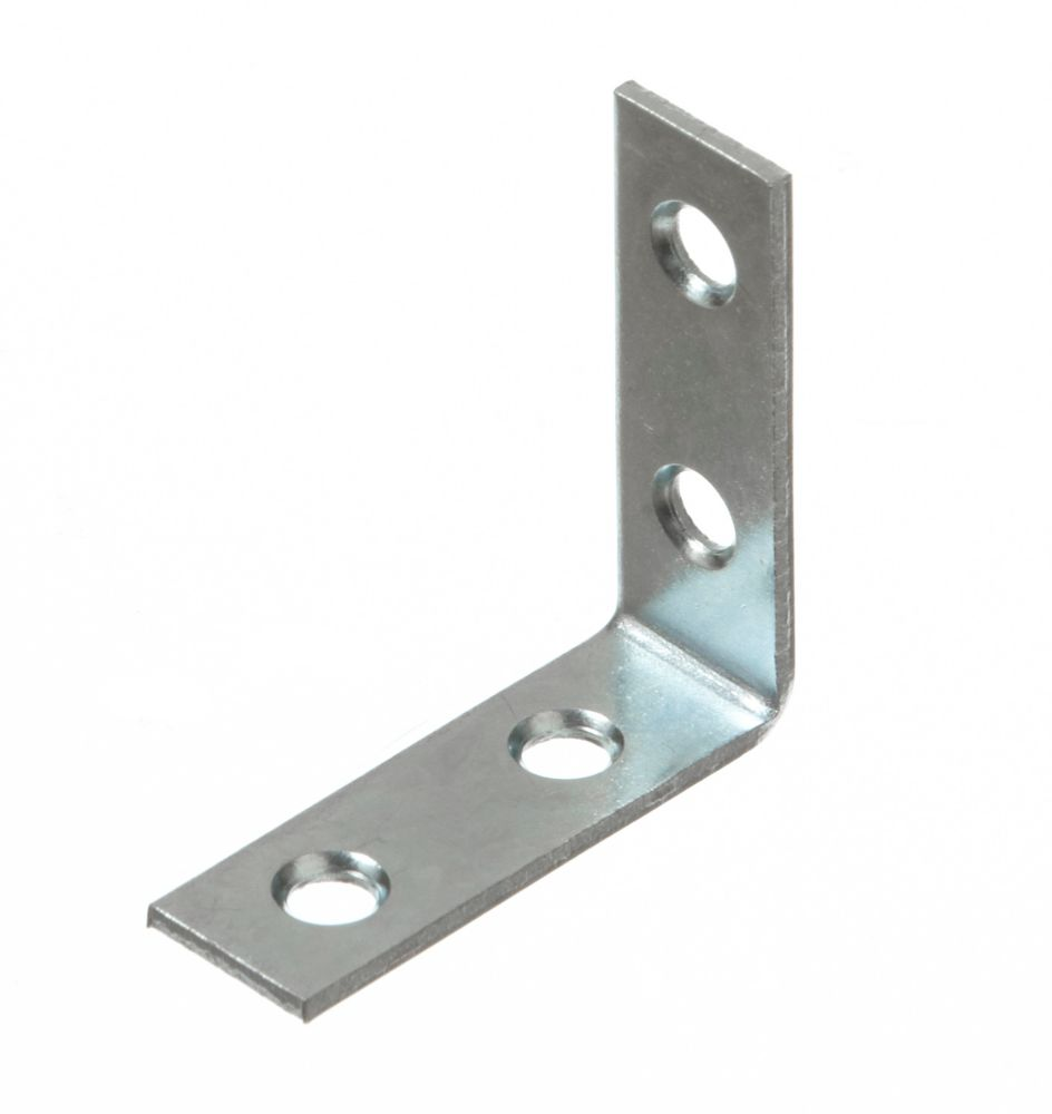 1-1/2 Inch  Zinc Corner Brace 4pk