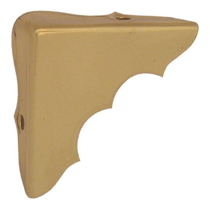 1-1/4 Inch  Solid Brass Corner Brace 4pk