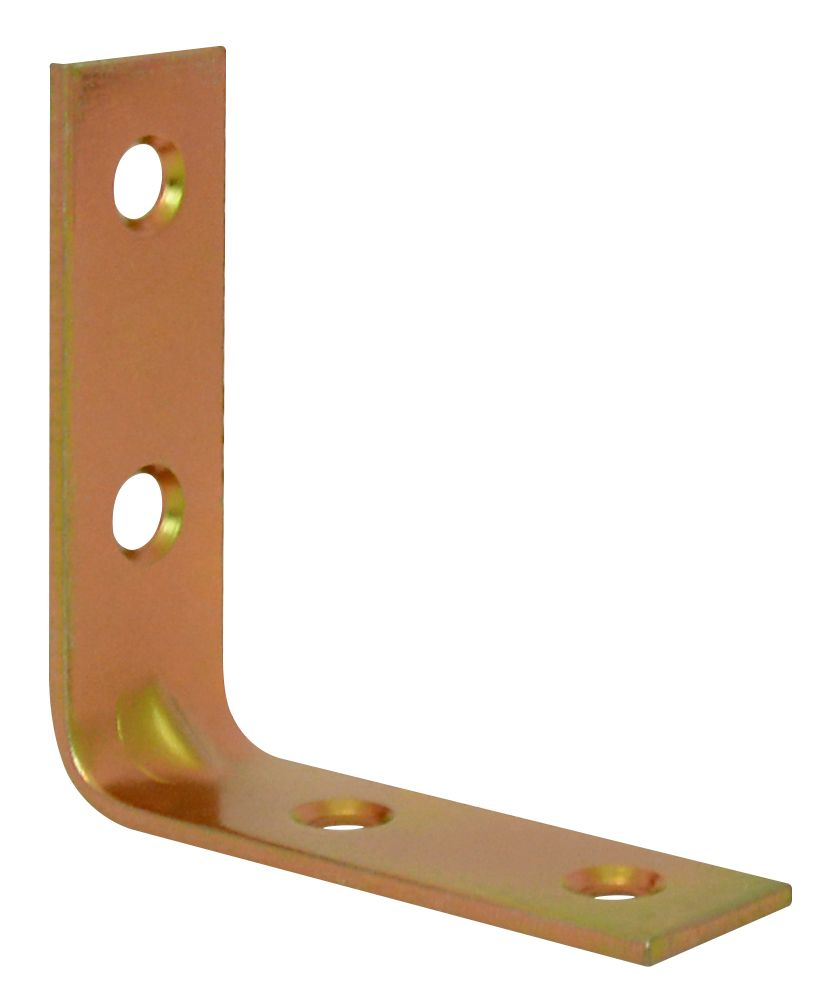 2 Inch  Brass Corner Brace 4pk