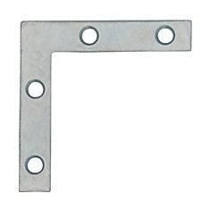 2 Inch Zinc Flat Corner Brace (4-Pack)