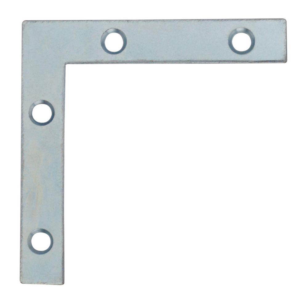 2-1/2 Inch  Zinc Flat Corner Brace 4pk