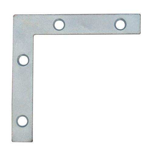 Everbilt 3 Inch Zinc Flat Corner Brace (4-Pack)