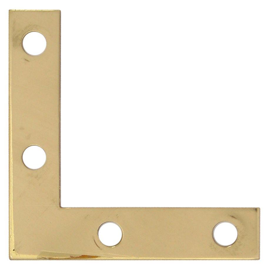 2 Inch Solid Brass Flat Corner Brace 4pk 859-733 Canada Discount