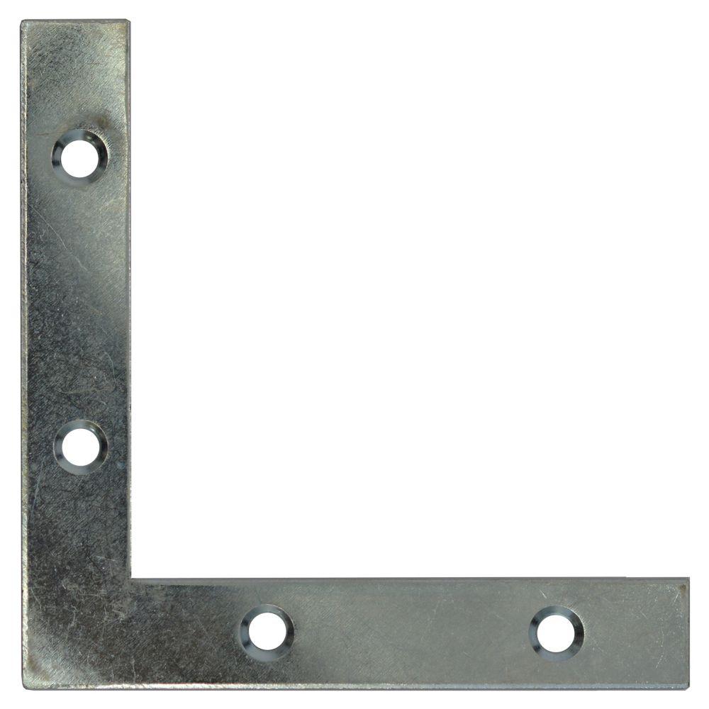 """Équerres plates 4"""" zinc"""