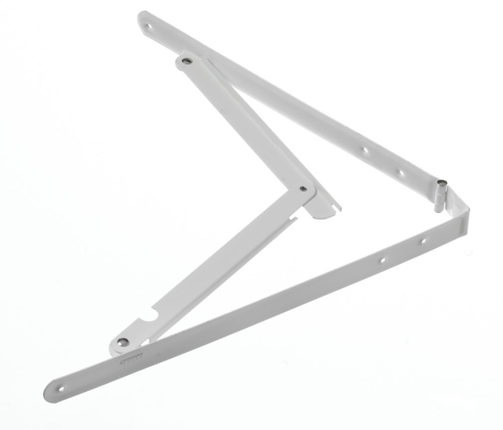 16 Inch X16 Inch  White Folding Shelf Bracket