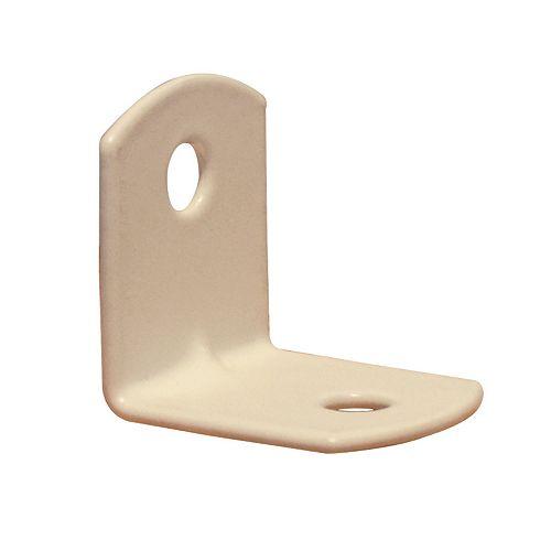 Everbilt 3/4 Inch White Furniture Brace (100-Pack)