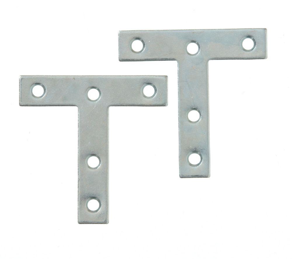 3 Inch  Zinc T-Plate 2pk