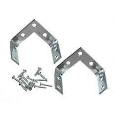 2 Inch Zinc Triple Corner Brace (2-Pack)