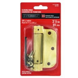 Everbilt 3-1/2 Inch  Satin Brass 5/8rd Closing Hinge